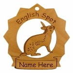 English Spot Rabbit Ornament Personalized with Your Rabbit's Name