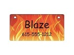 Fire Design Crate Tag Personalized With Your Dog's Name