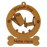 Flyball Dog Sport Ornament Personalized with Your Dog's Name
