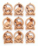 French Bulldog Ornament Minis - Set of 9