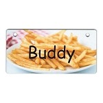 French Fries Design Crate Tag Personalized With Your Dog's Name