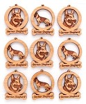 German Shepherd Ornament Minis - Set of 9