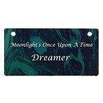 Green Marble Design Crate Tag Personalized With Your Dog's Name