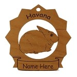 Havana Rabbit Ornament Personalized with Your Rabbit's Name
