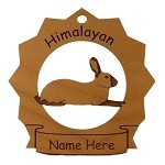 Himalayan Rabbit Ornament Personalized with Your Rabbit's Name