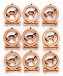 Kooikerhondje Ornament Minis - Set of 9