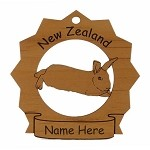 New Zealand Rabbit Ornament Personalized with Your Rabbit's Name
