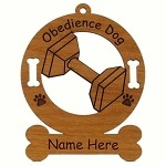 Obedience Dog Sport Ornament Personalized with Your Dog's Name