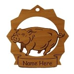 Pig Ornament Personalized with Your pig's Name
