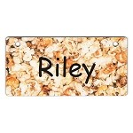 Popcorn Design Crate Tag Personalized With Your Dog's Name
