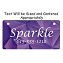 Purple Abstract Cube Design Crate Tag Personalized With Your Dog's Name
