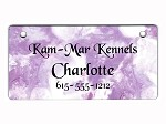Purple Clouds Tag Personalized With Your Dog's Name
