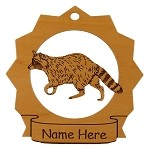 Raccoon Personalized Ornament