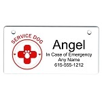 Service Dog Design Crate Tag Personalized With Your Dog's Name