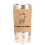 Suri Alpaca Standing Tumbler 20 oz Polar Camel Tumbler with Lid Personalized with Your Alpaca's Name