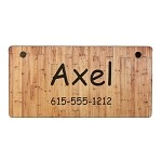 Wood Fence Design Crate Tag Personalized With Your Dog's Name