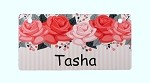 Roses Crate Tag Personalized With Your Dog's Name