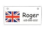 United Kingdom Crate Tag Personalized With Your Dog's Name